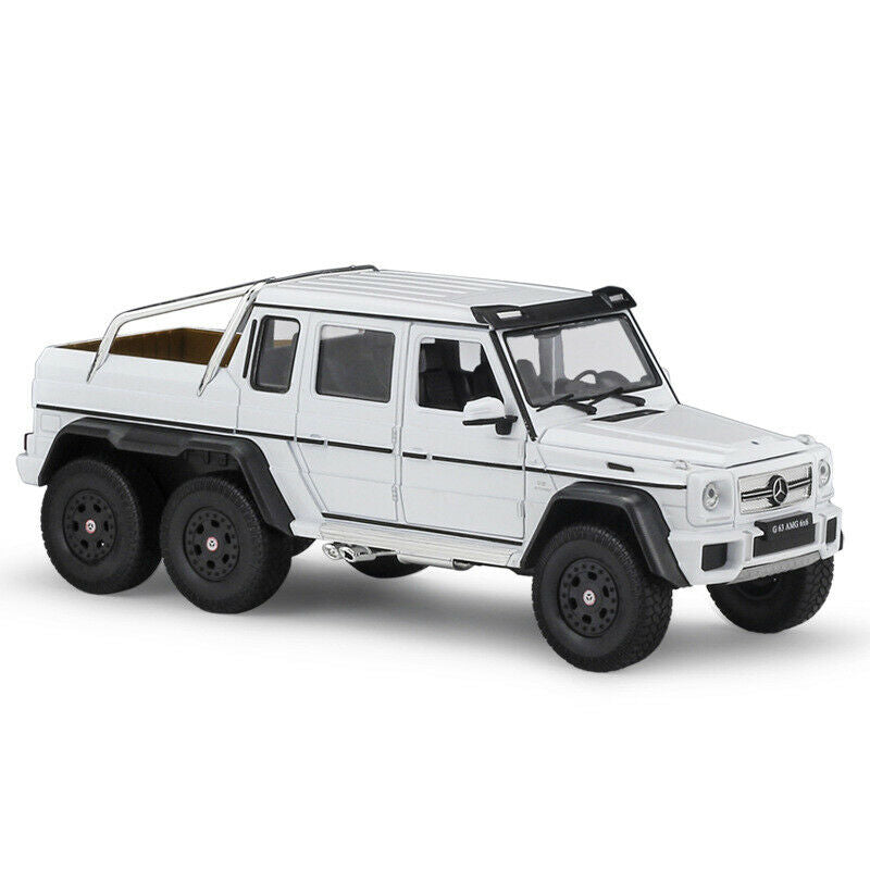 Mercedes-Benz G-Class G63 AMG 6 X 6 (White) 1:24 Scale Diecast Model Car By Welly
