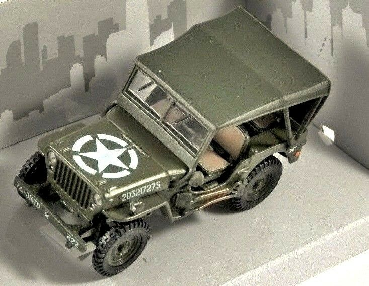Willys MB Jeep 4 X 4 1:43 Scale Model By Cararama Top View