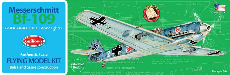 Messerschmitt Bf 109 Balsa Wood Kit By Guillow's