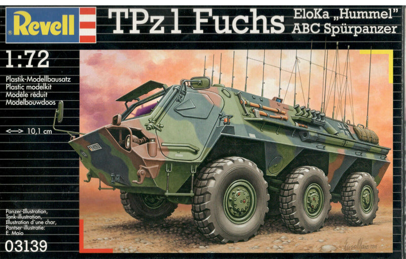 "Tpz1 Fuchs EloKa ""Hummel"" Or ABC Spurpanzer 1/72 Scale Model Kit By Revell Germany"