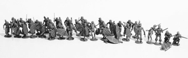 Zulus 28 mm Scale Model Plastic Figures