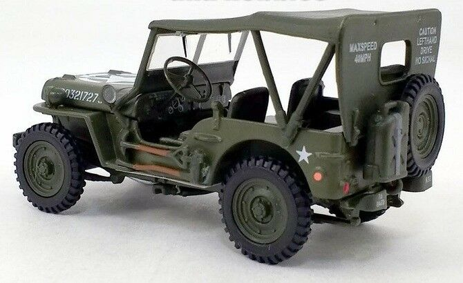 Willys MB Jeep 4 X 4 1:43 Scale Model By Cararama Left Rear View