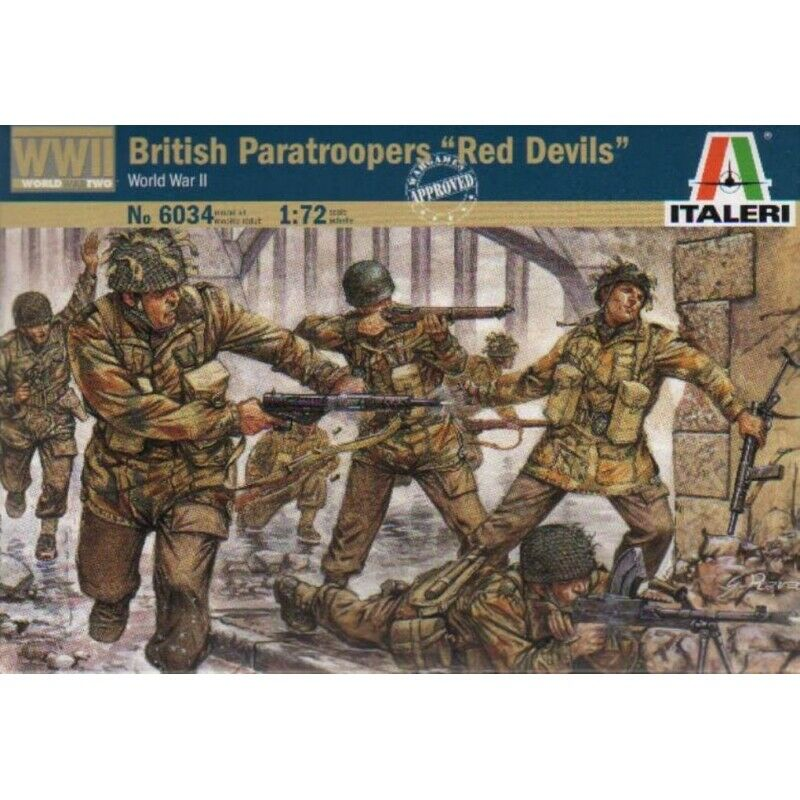 "British Paratroopers ""Red Devils"", 1/72 Scale Plastic Figures Kit"