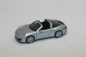 Porsche 911 (991) Targa 4S Rhodium Silver Metallic 1:87 (HO) Scale Model By Herpa