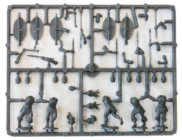 Zulus 28 mm Scale Model Plastic Figures By Perry Miniatures Sample Sprue