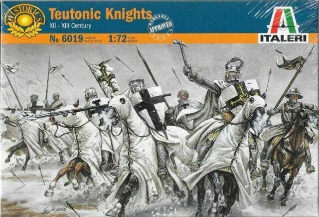 Teutonic Knights 12th – 13th Century, 1/72 Scale Plastic Figures By Italeri