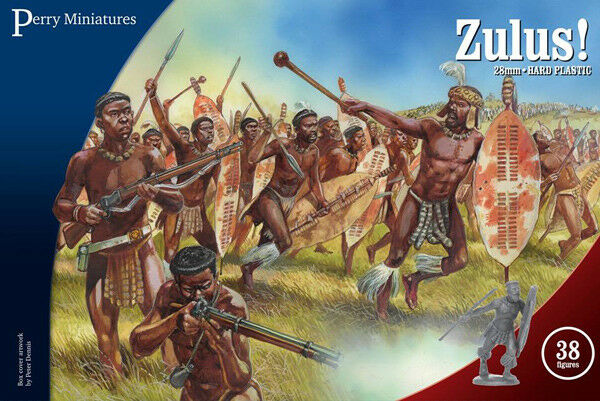 Zulus 28 mm Scale Model Plastic Figures By Perry Miniatures By Perry Miniatures