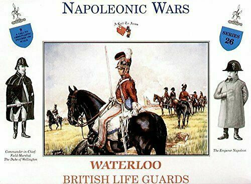 Napoleonic Wars: Waterloo British Life Guards 1/32 (54 mm) Scale Model Plastic Figures By A Call  To Arms