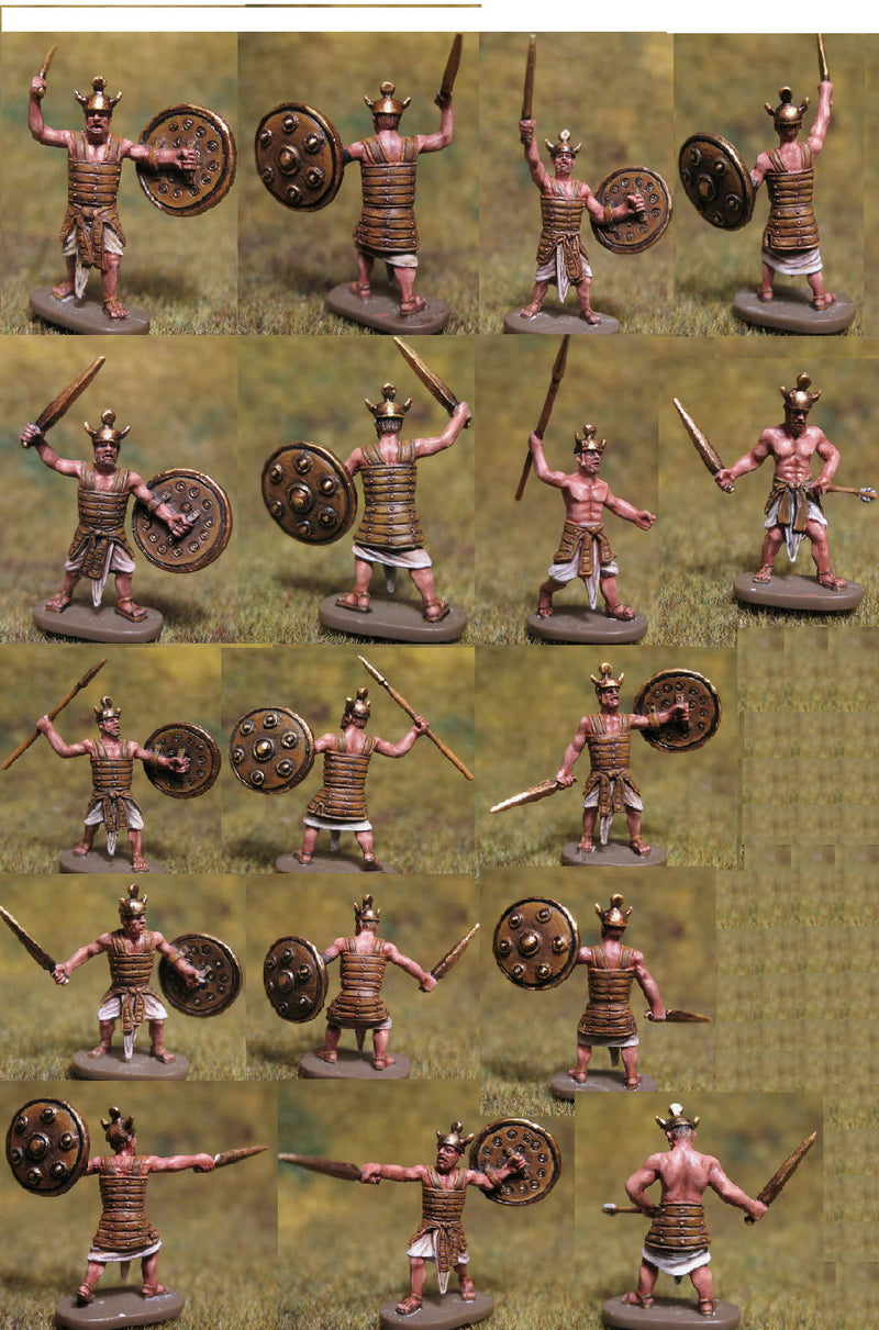 Biblical Era Egyptian Sherden The Royal Guards Figures 1/72 Scale By Caesar Miniatures Painted