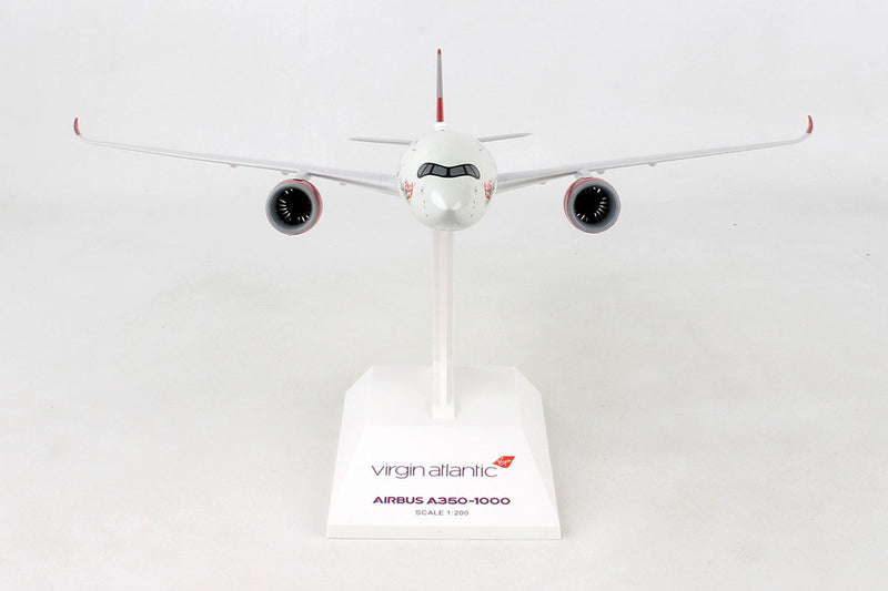 Airbus A350-1000 Virgin Atlantic  1:200 Scale Model By Daron Skymarks Front View