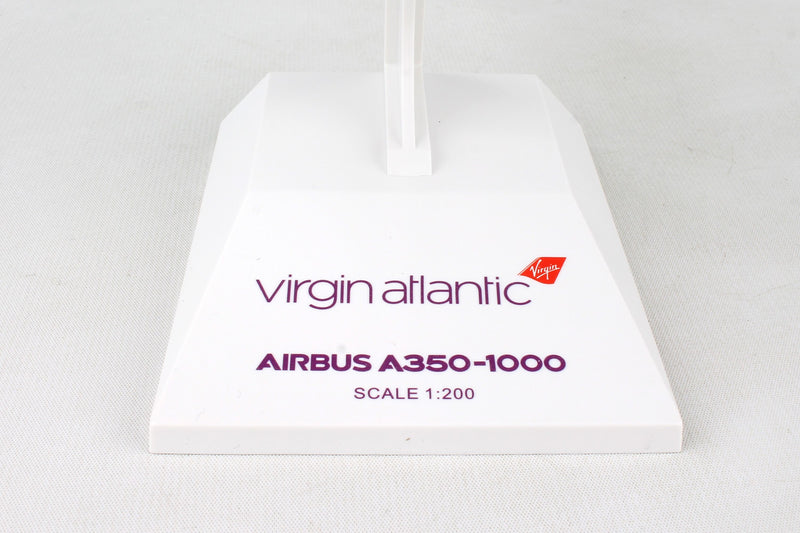 Airbus A350-1000 Virgin Atlantic  1:200 Scale Model By Daron Skymarks Stand
