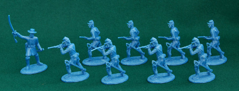 American Civil War Union Army Dragoons 1861 –1865, 54 mm (1/32) Scale Plastic Figures By Expeditionary Force
