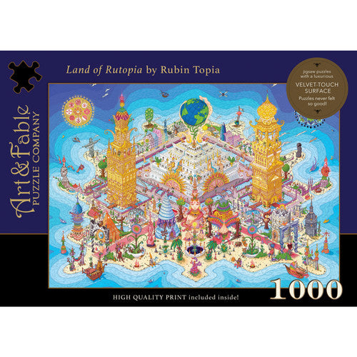 Land Of Rutopia 1000 Piece Puzzle By Art & Fable Puzzle Co