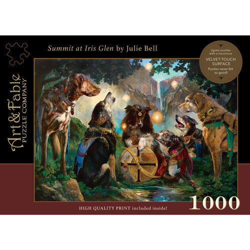 Summit At Iris Glen 1000 Piece Puzzle  By Art & Fable Puzzle Company