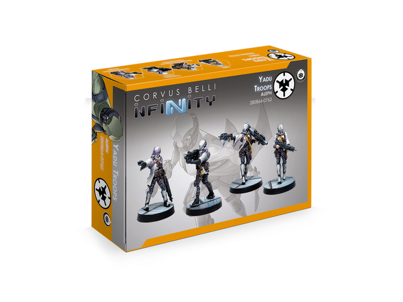 Infinity ALEPH Yadu Troops Miniature Game Figures Box