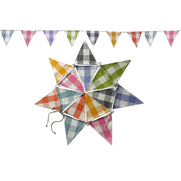 Large Check Gingham Bunting