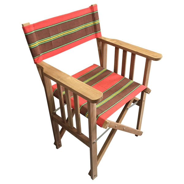 Triathlon Striped Directors Chair