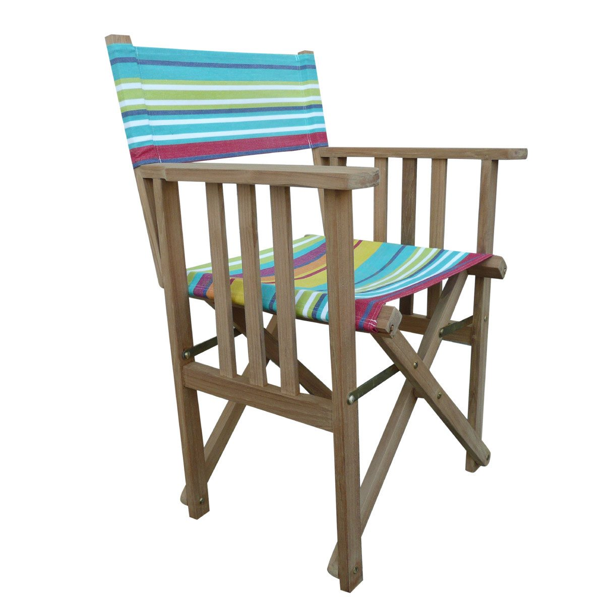 Aerobics Striped Directors Chair - Deckchair Stripes