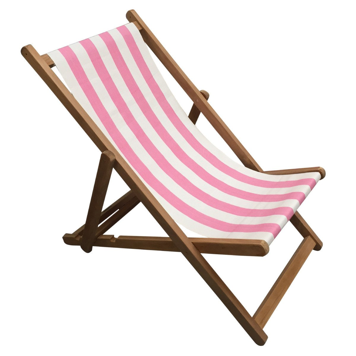 Discus Premium Teak Hardwood Striped Deckchair - Deckchair Stripes