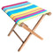 Bright colours contrasting striped fabric