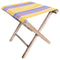 folding stool yellow with rainbow stripe seat