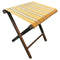 Sunflower yellow stripe folding stool