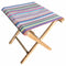multi stripe folding stool
