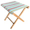 turquoise terracotta stripe folding stool