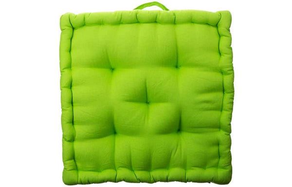 Lime Green Box Cushion
