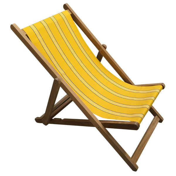 Handball Teak Striped Deckchair