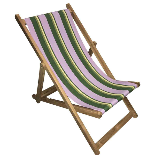 Hip Hop Teak Striped Deckchair