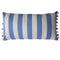 Striped Pompom Cushion