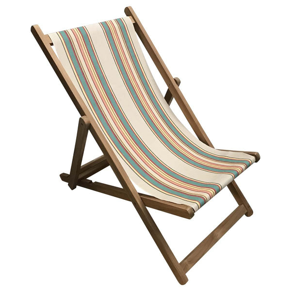Lido Teak Striped Deckchair