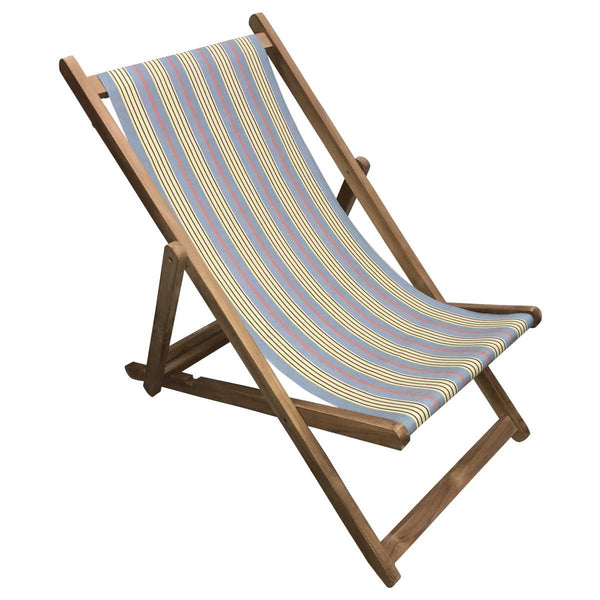 Majorette Teak Striped Deckchair