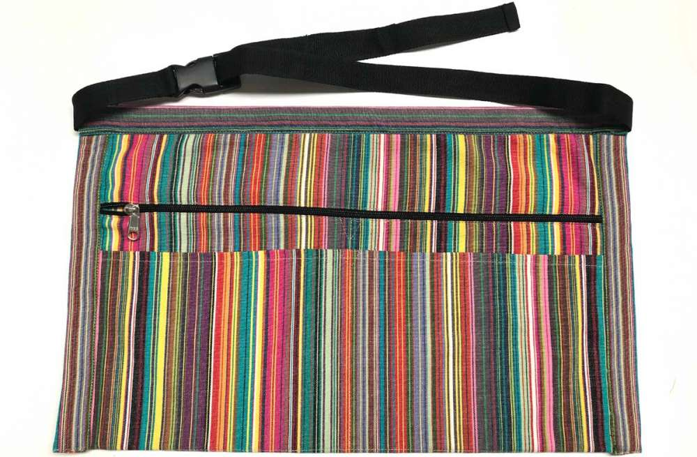 mahjong striped money apron