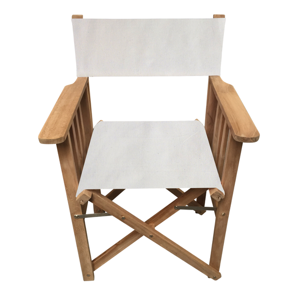 Cream Striped Directors Chair