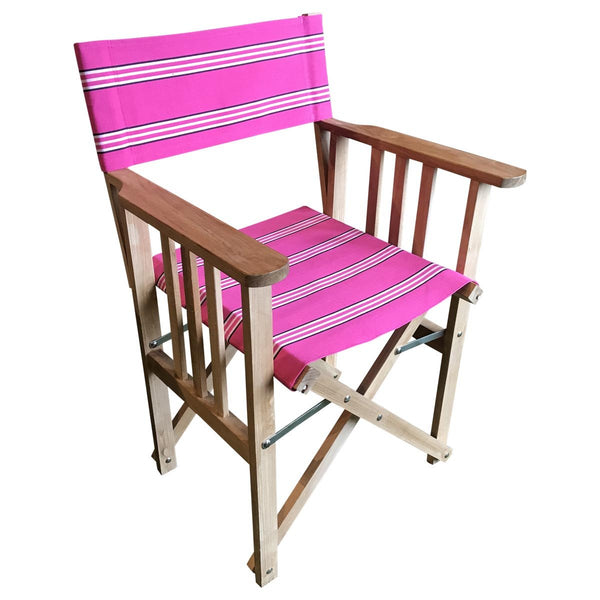 racquets striped directors chair