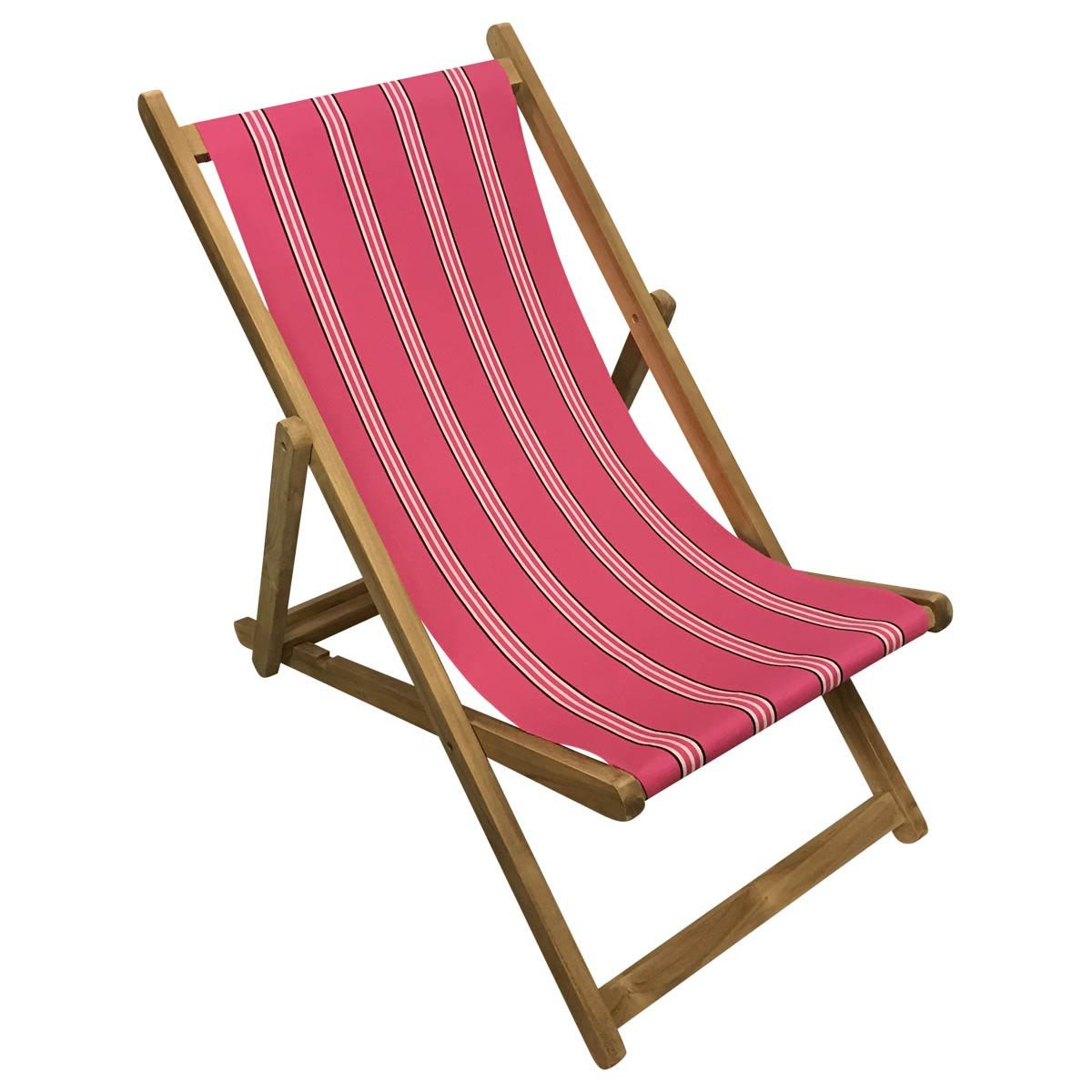 Racquets Teak Striped Deckchair
