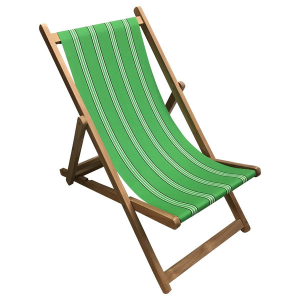 Rounders Teak Striped Deckchair