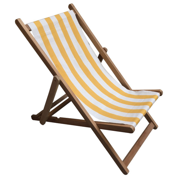 Shot Put Teak Striped Deckchair