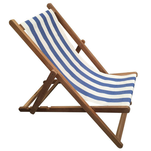 Soccer Teak Striped Deckchair
