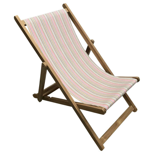 Squash Teak Striped Deckchair