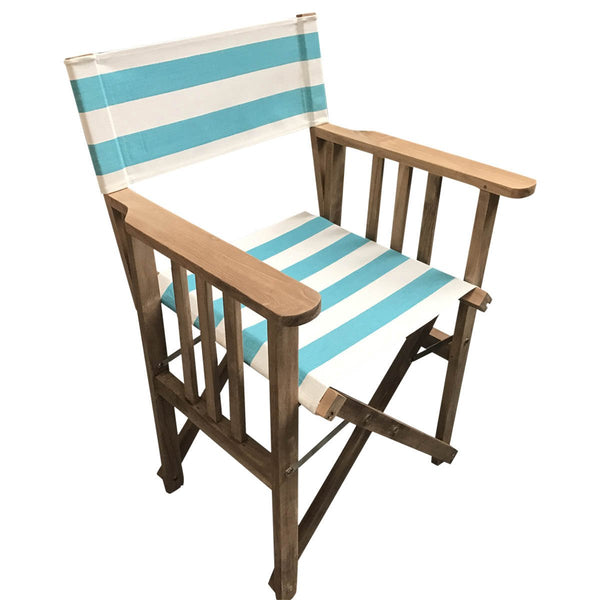 Surfing Striped Directors Chair