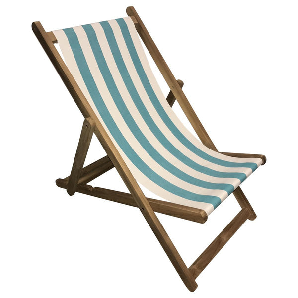 Surfing Teak Striped Deckchair