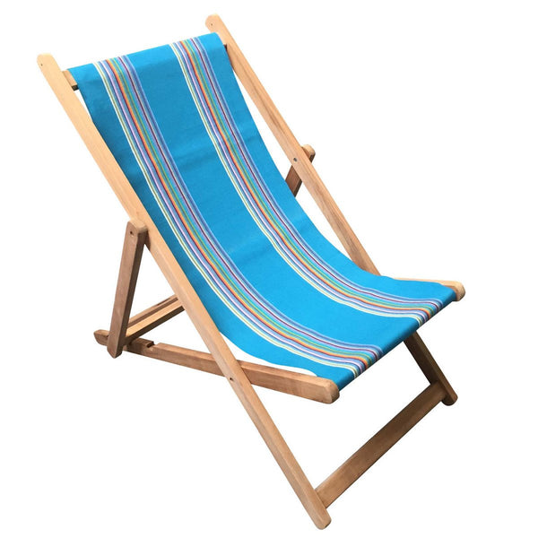 Swimming Teak Striped Deckchair