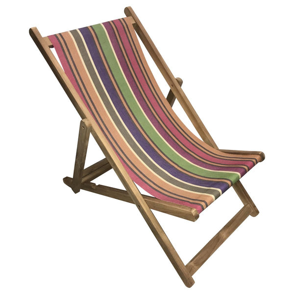 Yoga Teak Striped Deckchair