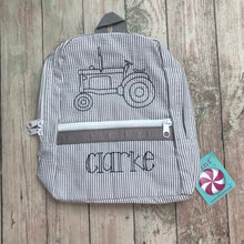 Load image into Gallery viewer, Grey Chambray Backpack