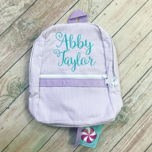 Navy Chambray Backpack