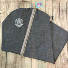 Load image into Gallery viewer, Lilac Seersucker Garment Bag