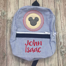 Load image into Gallery viewer, Navy Chambray Backpack